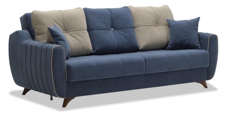Прямой тканевый диван Ланс - стильный и комфортный диван на высоких ножках